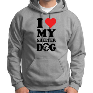 Love Shelter Dogs - Adult Dri Blend Hooded