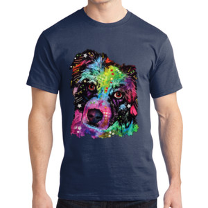 Colorful Border Collie - Adult Soft Cotton T