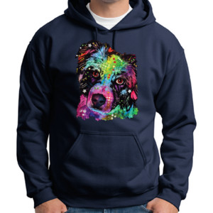 Colorful Border Collie - Adult 50/50 Blend Hoodie