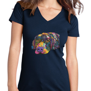 Colorful Lab - Juniors V-Neck T