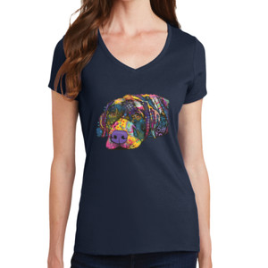 Colorful Lab - Ladies V-Neck T