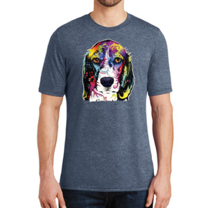 Colorful Beagle - Adult Soft Tri-Blend T