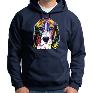 Colorful Beagle - Adult 50/50 Blend Hoodie