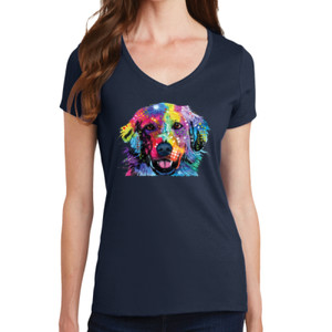Colorful Golden 2 - Ladies V-Neck T