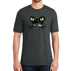 Cat Face - Adult Soft Tri-Blend T