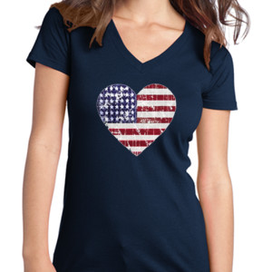 Love America - Juniors V-Neck T