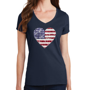 Love America - Ladies V-Neck T