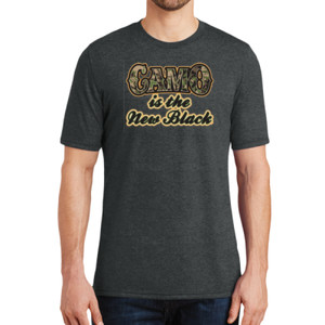 Camo is the New Black - Adult Soft Tri-Blend T