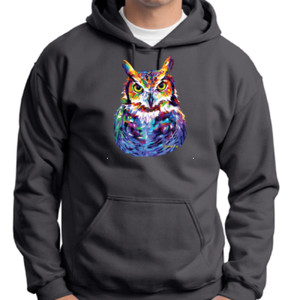 Colorful Owl - Adult 50/50 Blend Hoodie