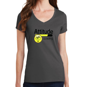 Attitude - Ladies V-Neck T