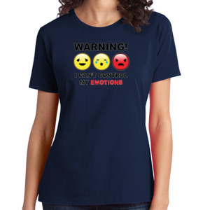 Warning- Emotions - Ladies Soft Cotton T