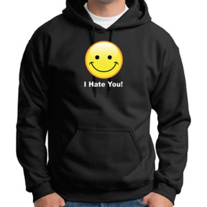 I Hate You - Adult 50/50 Blend Hoodie
