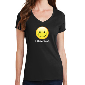 I Hate You - Ladies V-Neck T