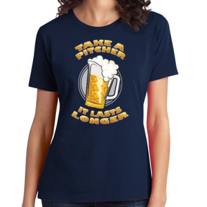 Take a Pitcher - Ladies Soft Cotton T