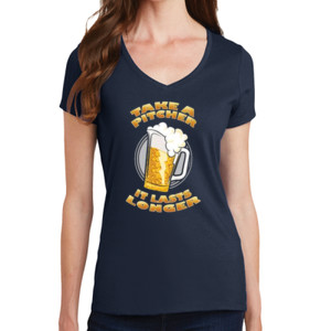 Take a Pitcher - Ladies V-Neck T