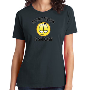 Sarcasm - Ladies Soft Cotton T