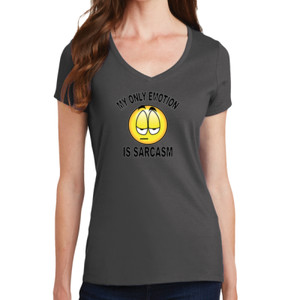 Sarcasm - Ladies V-Neck T