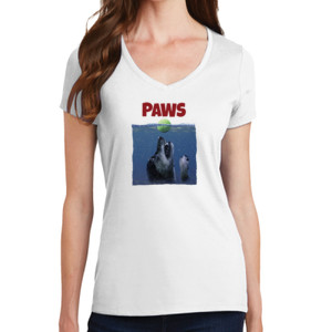 Paws - Ladies V-Neck T