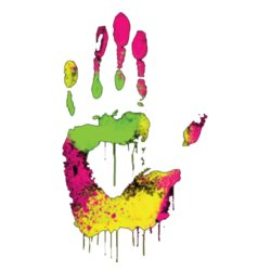 Colorful Hand Print