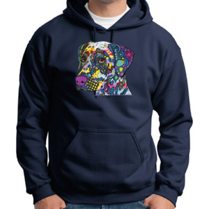 Colorful Dalmatian  - Adult Dri Blend Hooded