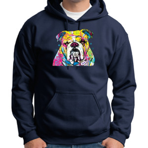 Colorful Bulldog - Adult Dri Blend Hooded