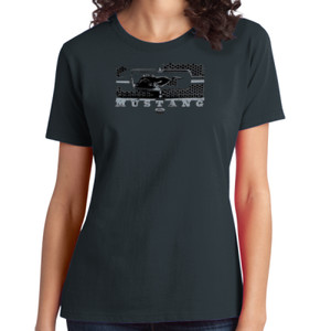 Mustang Grill - Ladies Soft Cotton T