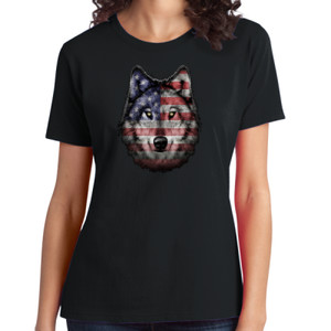 American Wolf - Ladies Soft Cotton T