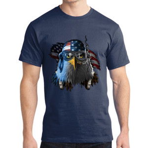Patriotic Eagle - Adult Soft Cotton T