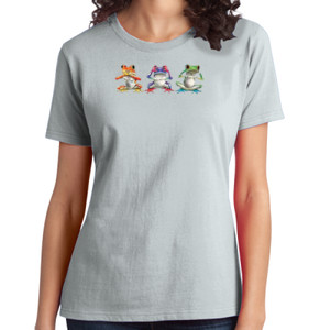 Tree Frogs - Ladies Soft Cotton T