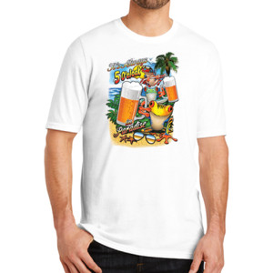 5 0'Clock in Paradise - Adult Soft Tri-Blend T
