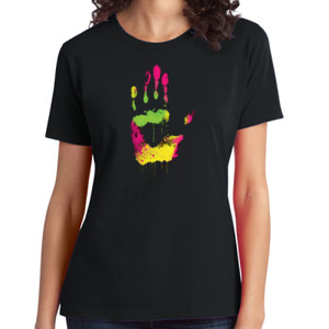Handprint - Ladies Soft Cotton T