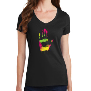 Handprint - Ladies V-Neck T