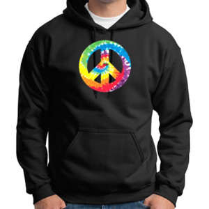 Peace Sign - Adult 50/50 Blend Hoodie