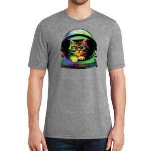 Space Kitten - Adult Soft Tri-Blend T