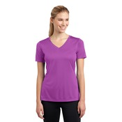 Ladies Moisture Wicking V Neck