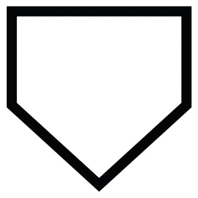 large home plate plaque creative customizing rh creativecustomizing com Baseball Bat Clip Art Home Plate Template