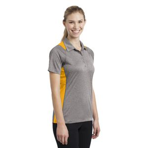 Ladies Heather Colorblock Polo Thumbnail