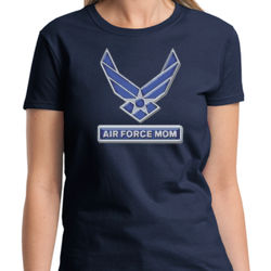Air Force Mom Hoodie - Ladies Heavy Cotton T Thumbnail