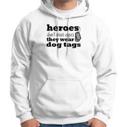 Heroes Wear Dog Tags - Adult 50/50 Blend Hoodie Thumbnail