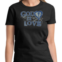 God is Love Ladies T Thumbnail
