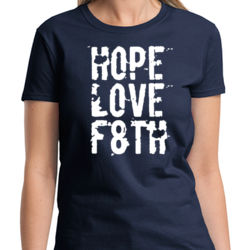 Hope Love Faith Ladies T Thumbnail