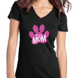 Rescue Mom - Juniors V-Neck T Thumbnail