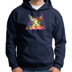 Colorful Cat - Adult 50/50 Blend Hoodie Thumbnail