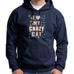 My Crazy Cat - Adult 50/50 Blend Hoodie Thumbnail