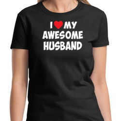 Love My Husband Ladies T Thumbnail