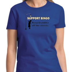 Support Bingo Ladies T Thumbnail