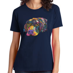 Colorful Lab - Ladies Soft Cotton T Thumbnail