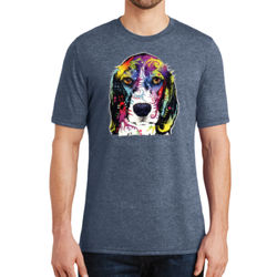 Colorful Beagle - Adult Soft Tri-Blend T Thumbnail