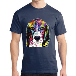 Colorful Beagle - Adult Soft Cotton T Thumbnail