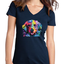 Colorful Golden 2 - Juniors V-Neck T Thumbnail